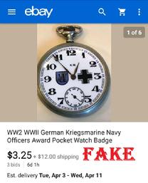 WW2 WWll German Hanjar Panzer Division Armed Forces Pocket Watch