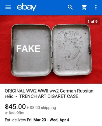 Nazi Cigarette Case