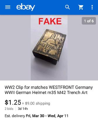 WW2 Clip for matches WESTFRONT Germany