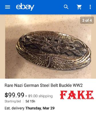 Nazi Belt Buckle, fake, WW2