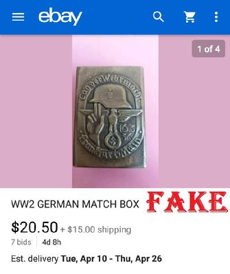 Fake Nazi Matchbox Cover
