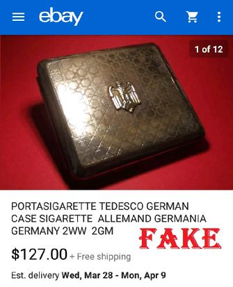 PORTASIGARETTE TEDESCO GERMAN CASE SIGARETTE ALLEMAND GERMANIA GERMANY 2WW 2GM