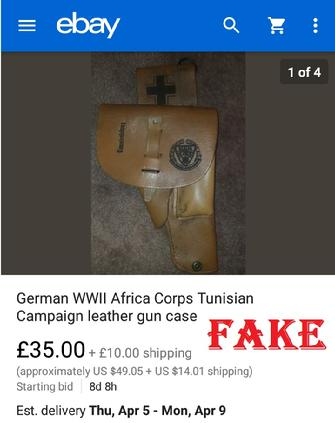 Brexit2019, fake nazi items, ebay fakes, WW2 fakes, German WW2 military fakes