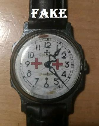 WW2 Red Cross Watch, Brexit2019, fake nazi items, ebay fakes, WW2 fakes, German WW2 military fakes