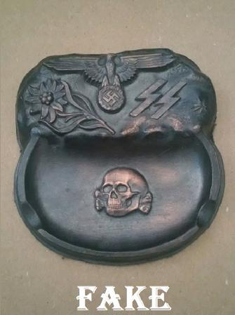 fake nazi ashtray. fake WW2 relics