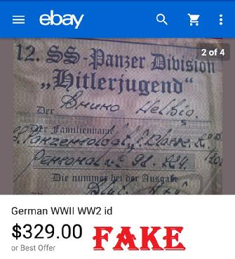 Fake Nazi ID, Fake WW2 German Passbook, Queenmimoza