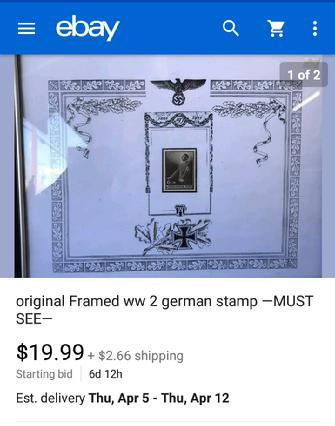 Nazi Items on eBay