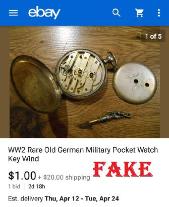 WW2 Rare Old German Military Pocket Watch Key Wind