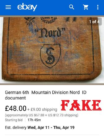 Fake Nazi ID book