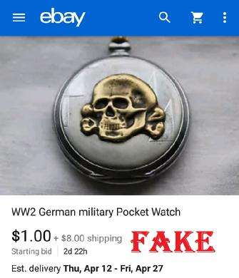 WW2 German Skull SS pocket watch