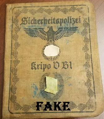 Fake Nazi WW2 I.D Document