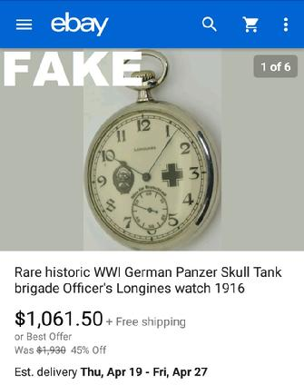 Sofia Bulgarian Fake Nazi Watches