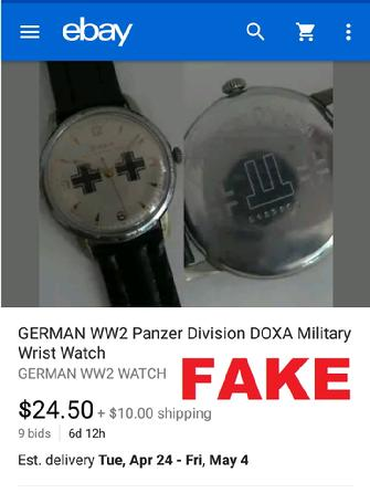 nazi watch ww2