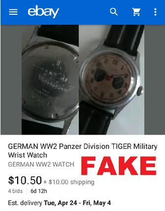 fake nazi watch