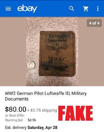 Nazi ID on ebay