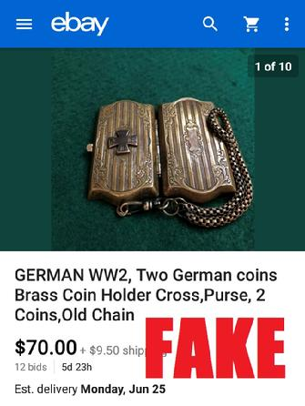 WW2 German Coin Holder