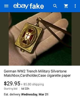 German WW2 Trench Matchbox Holder