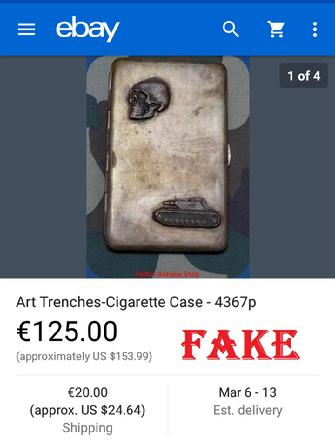 fake nazi cigarette case