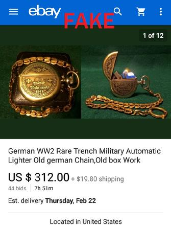 German Trench Lighter