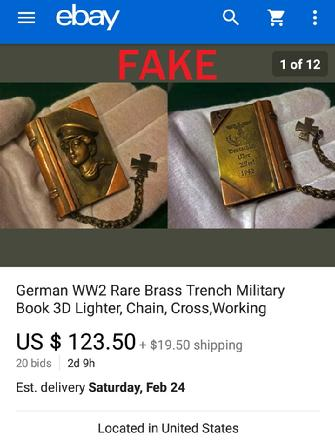 German WW2 Rare Brass Trench Military