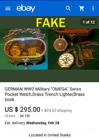 German Omega Pocket Watch