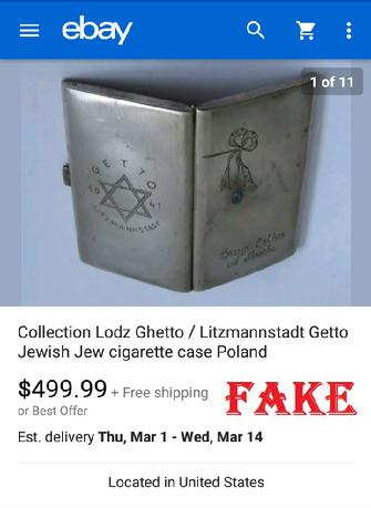 Fake Jewish WW2 Relic