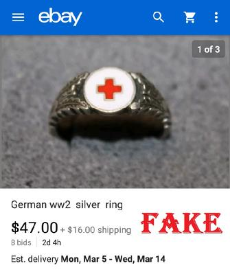 Fake Red Cross Ring