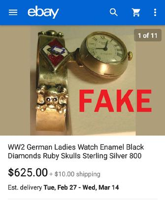 Fake Womans Nazi Watch