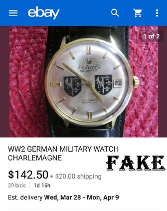 fake nazi wristwatch