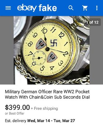ebay fake watches