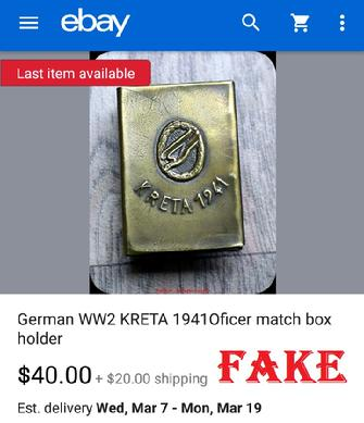 Fake Nazi Items on ebay