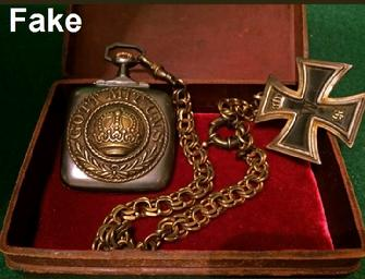 "GERMAN WW2 RARE Square ""brevit"" Swiss Military Pocket Watch, Iron Cross, Old Box"