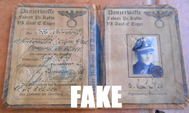Nazi Military Passbooks and IDs