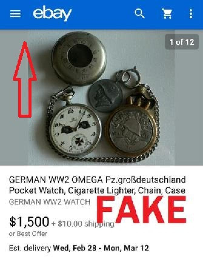 Fake Nazi Pocket Watch
