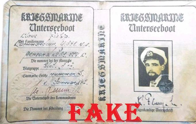 Fake WW2 Nazi ID, Fake Passbook,