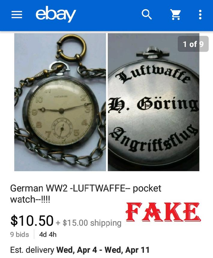 Fake Herman Goring Watch