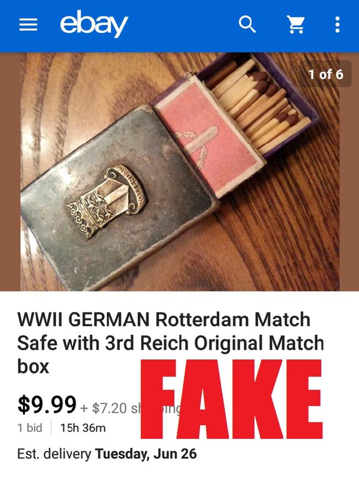WW2 German Match Box Cover