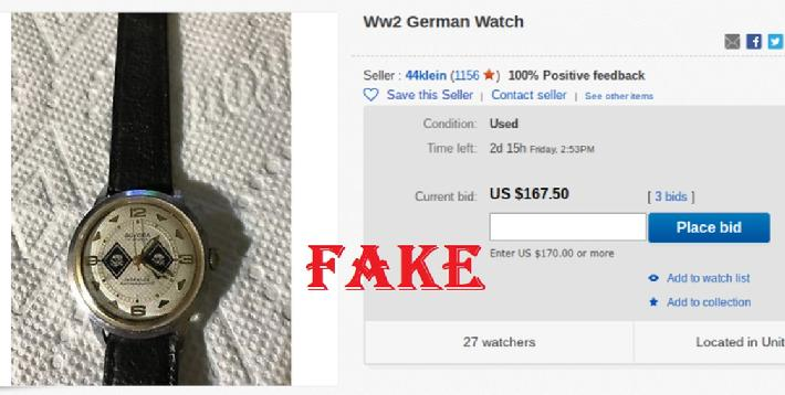 Fake Nazi Wrist Watch