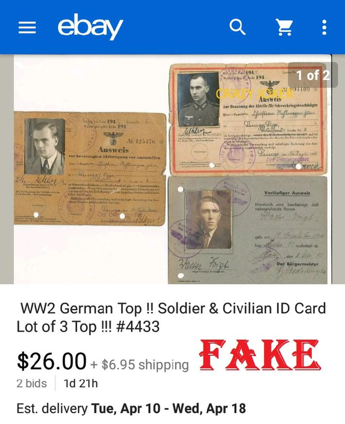 Fake Nazi ID Cards