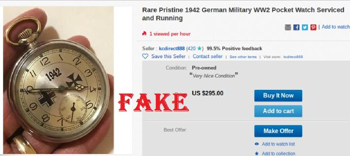 Rare Pristine 1942 German Military WW2 Pocket Watch Serviced and Running