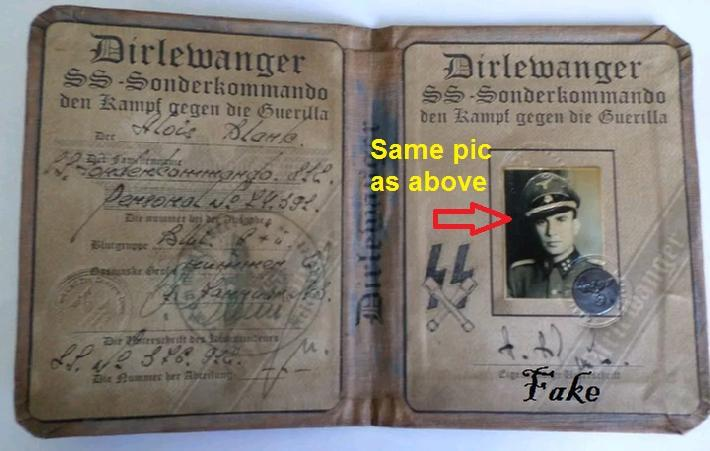 Fake Nazi ID's on ebay